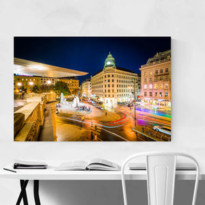 Vienna View of Albertinaplatz Art Print