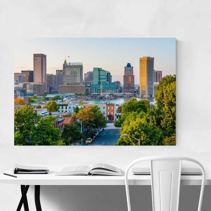 Baltimore Skyline Inner Harbor Art Print