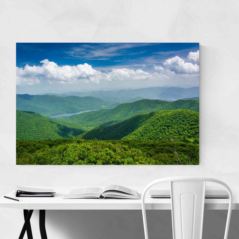 Blue Ridge North Carolina Nature Metal Art Print