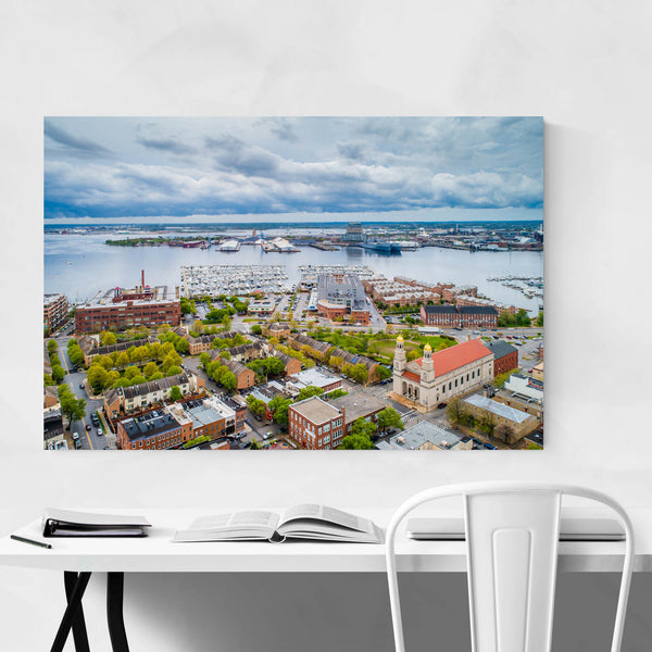 Canton Baltimore MD Inner Harbor Art Print