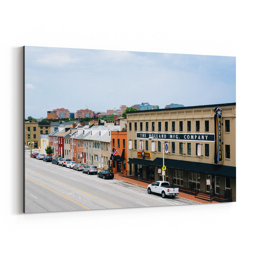Little Italy Baltimore Maryland Canvas Art Print