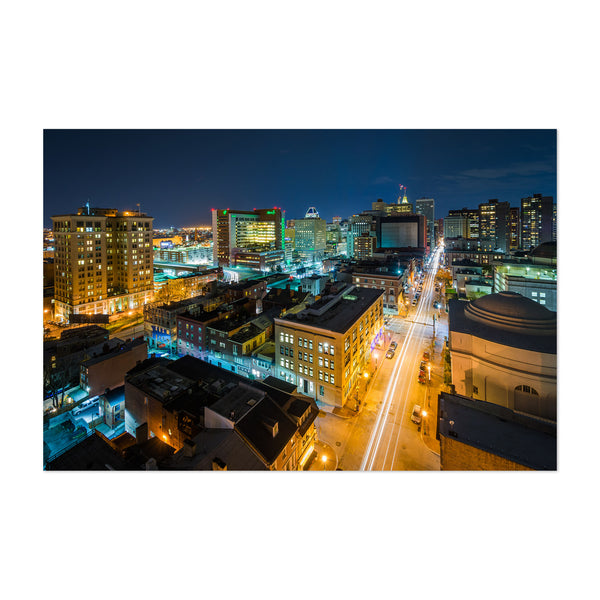 Downtown Skyline View Baltimore Art Print