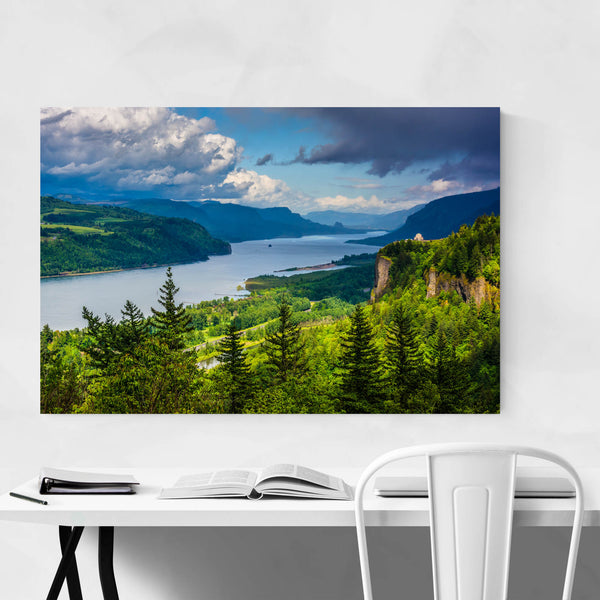 Columbia River Gorge Oregon View Art Print