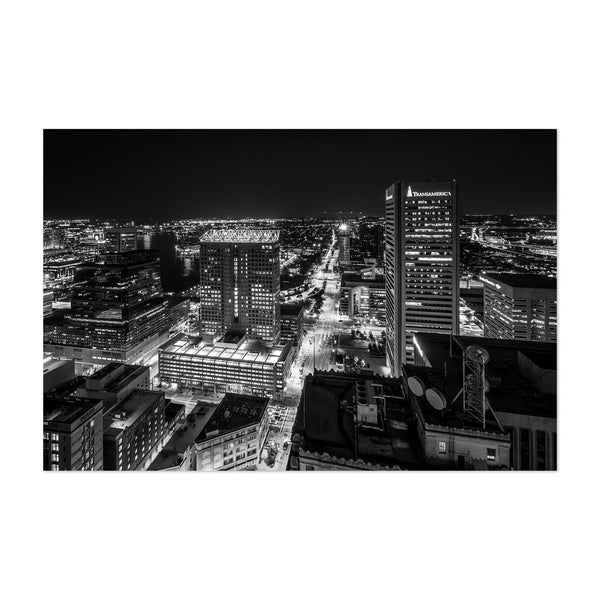 Downtown Baltimore Skyline Art Print