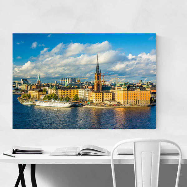 Stockholm Old Town View Art Print