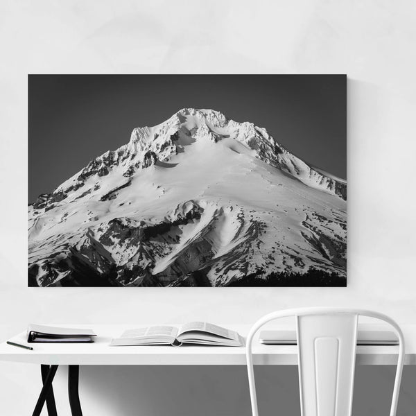 Mount Hood Snow Oregon Nature Art Print