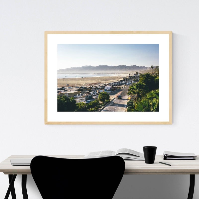 Santa Monica Mountains CA Framed Art Print
