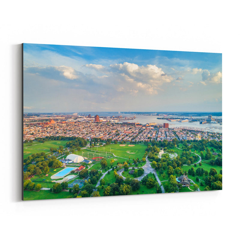 Baltimore Patterson Park View Canvas Art Print