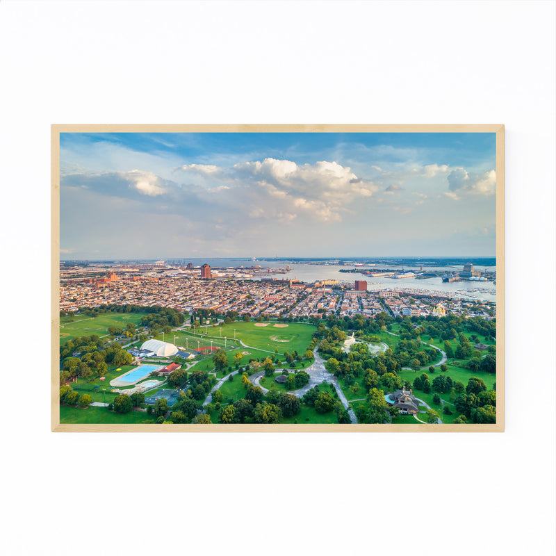 Baltimore Patterson Park View Framed Art Print