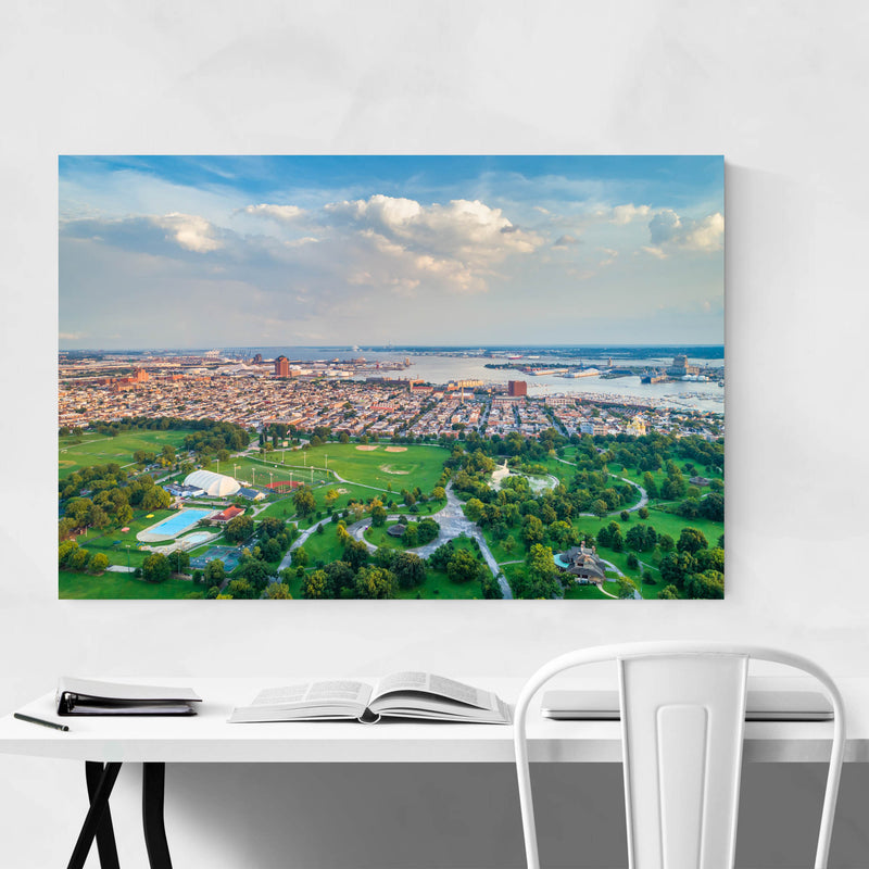 Baltimore Patterson Park View Metal Art Print