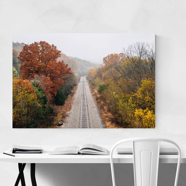 Railroad Tracks River Rural VA Art Print