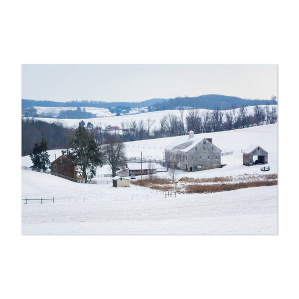 Pennsylvania Snow Winter Farm Art Print