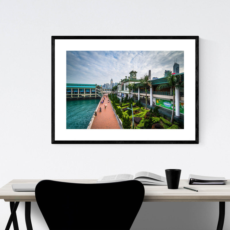 Hong Kong Victoria Harbour Framed Art Print