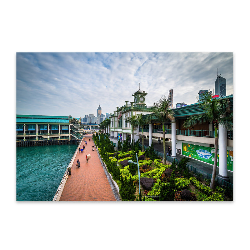 Hong Kong Victoria Harbour Metal Art Print