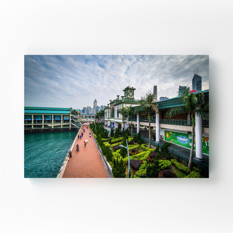 Hong Kong Victoria Harbour Mounted Art Print