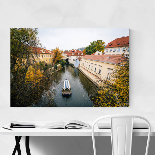 Prague Fall Color and Canal Art Print
