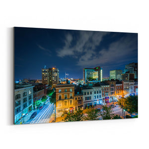 Mt. Vernon Baltimore Skyline Canvas Art Print