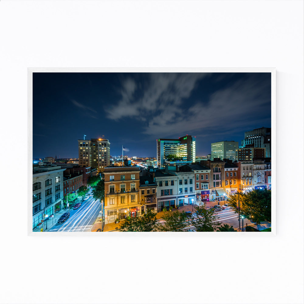 Mt. Vernon Baltimore Skyline Framed Art Print