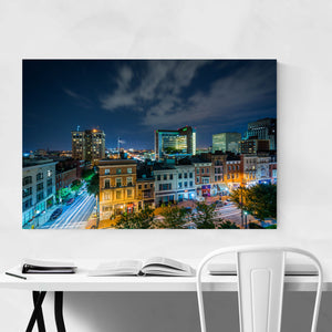 Mt. Vernon Baltimore Skyline Art Print