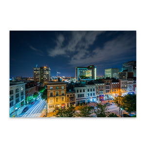 Mt. Vernon Baltimore Skyline Metal Art Print