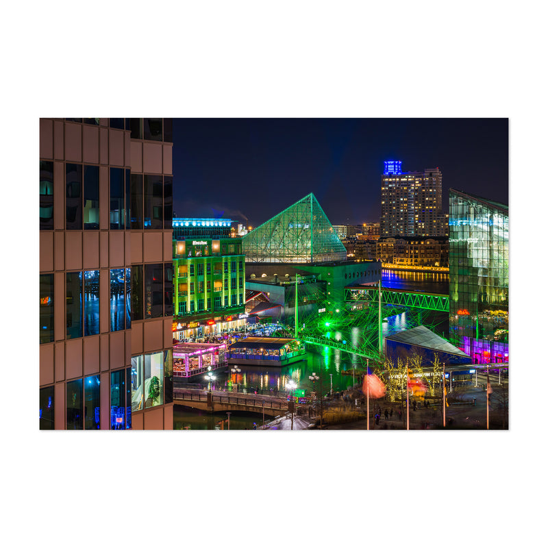 Inner Harbor Cityscape Baltimore Art Print
