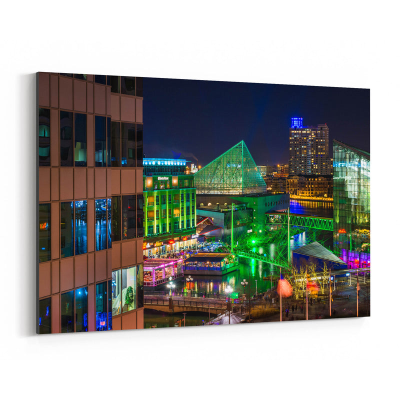 Inner Harbor Cityscape Baltimore Canvas Art Print