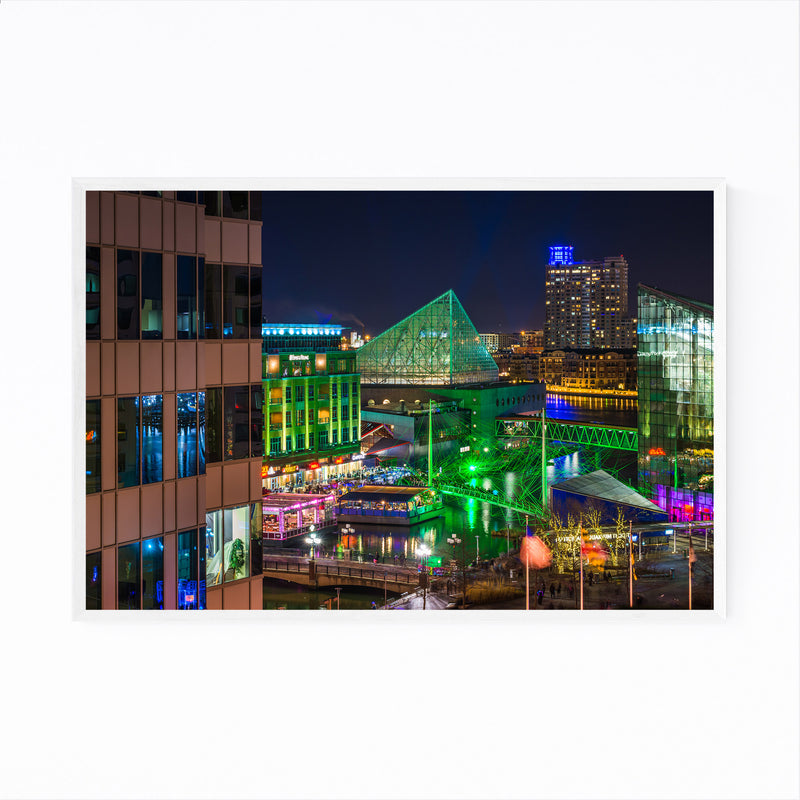 Inner Harbor Cityscape Baltimore Framed Art Print