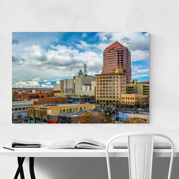 Albuquerque, New Mexico Skyline Art Print