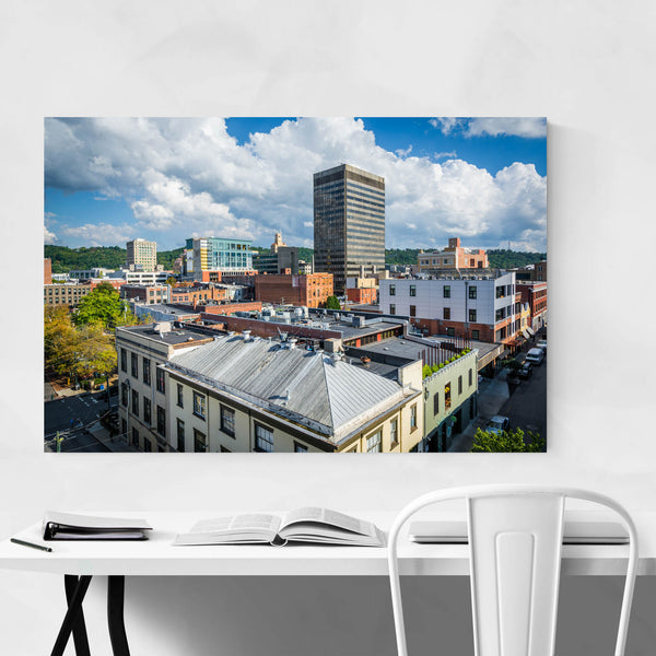 Asheville North Carolina Skyline Art Print