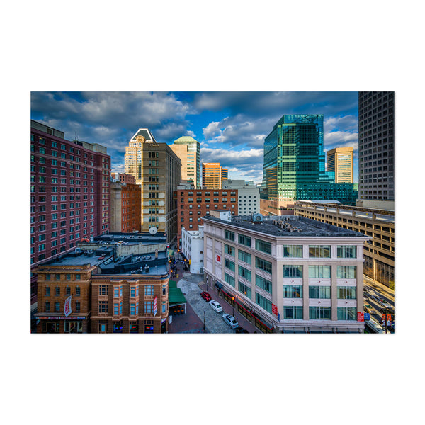 Downtown Skyline Baltimore MD Art Print