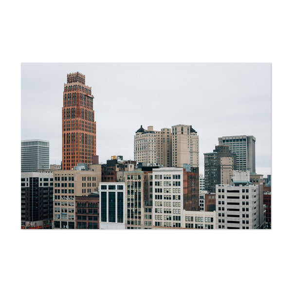 Detroit, Michigan Downtown Photo Art Print