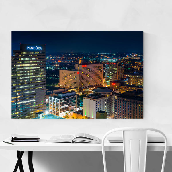 Downtown Baltimore MD Skyline Art Print