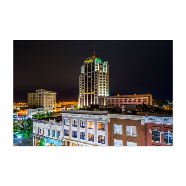 Roanoke City Virginia Skyine Art Print