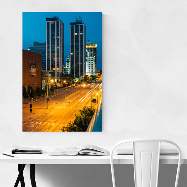 Peoria Illinois Downtown Skyline Art Print
