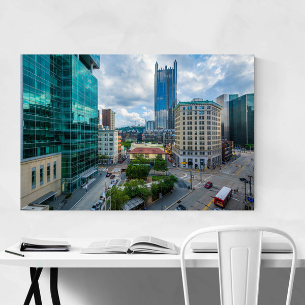 Downtown Pittsburgh City Skyline Art Print