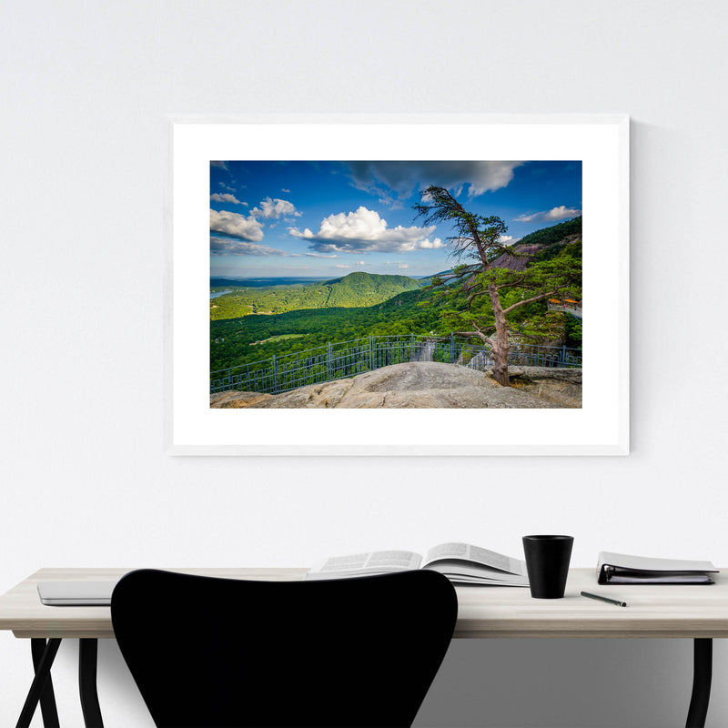 Chimney Rock North Carolina Framed Art Print