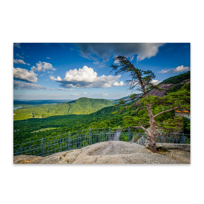 Chimney Rock North Carolina Metal Art Print