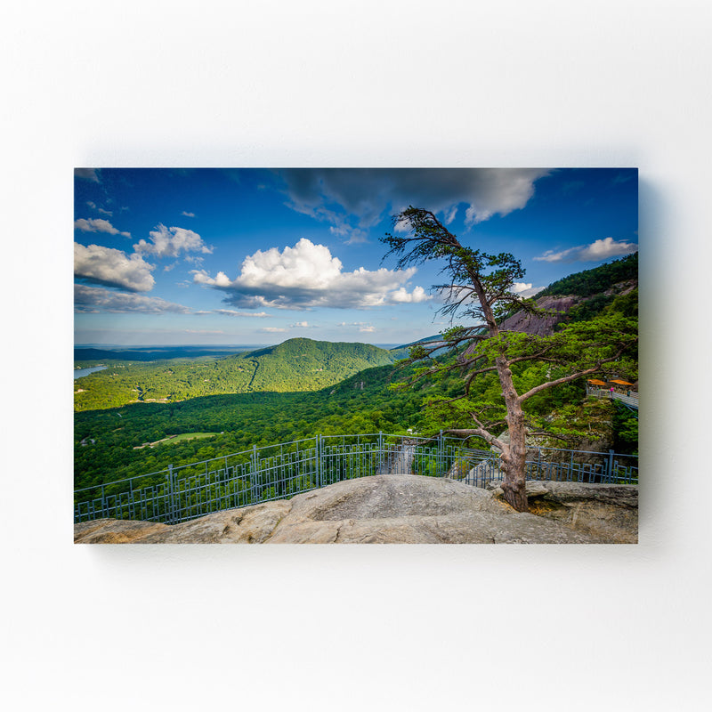 Chimney Rock North Carolina Mounted Art Print