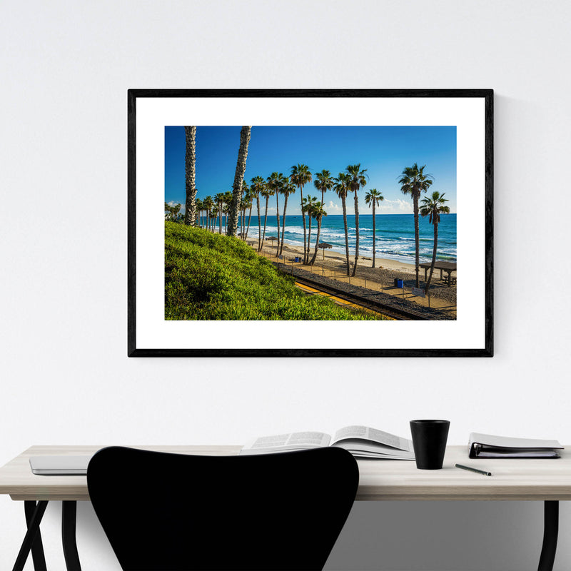 San Clemente California Beach Framed Art Print