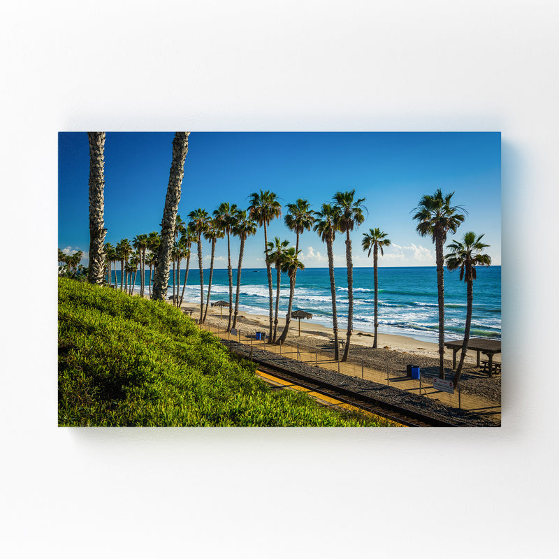 San Clemente California Beach Mounted Art Print