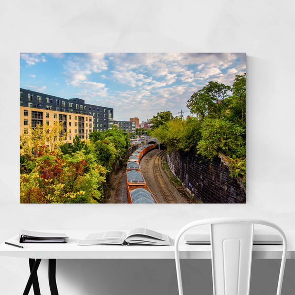 Baltimore Maryland Railroad Tracks Art Print