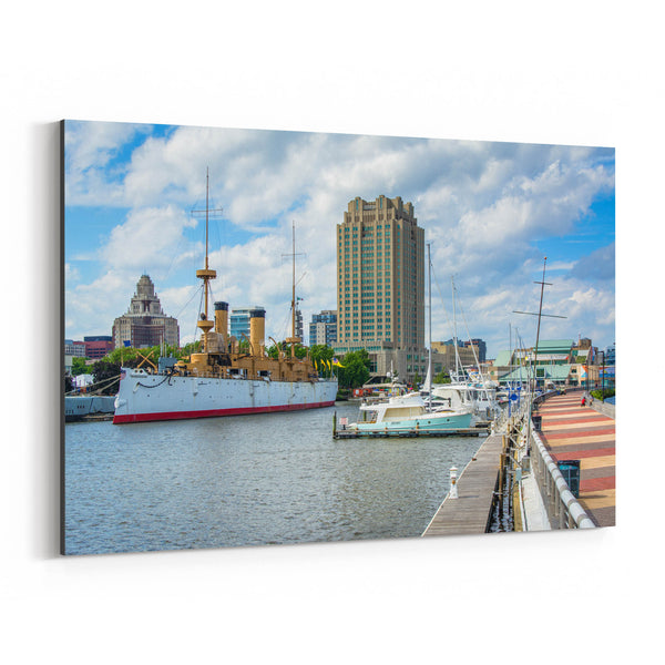 Philadelphia Penns Landing View Canvas Art Print