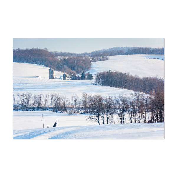 Pennsylvania Farms Snow Winter Art Print
