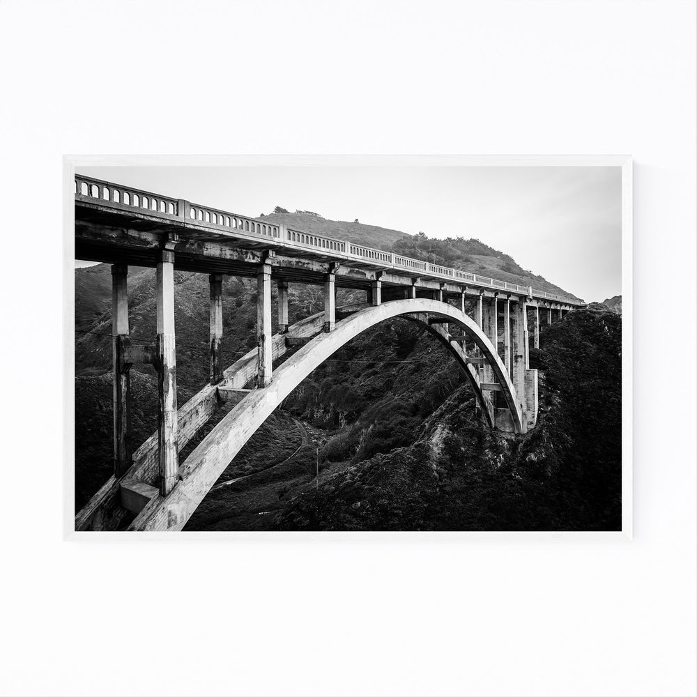 Bixby Bridge Big Sur California Framed Art Print