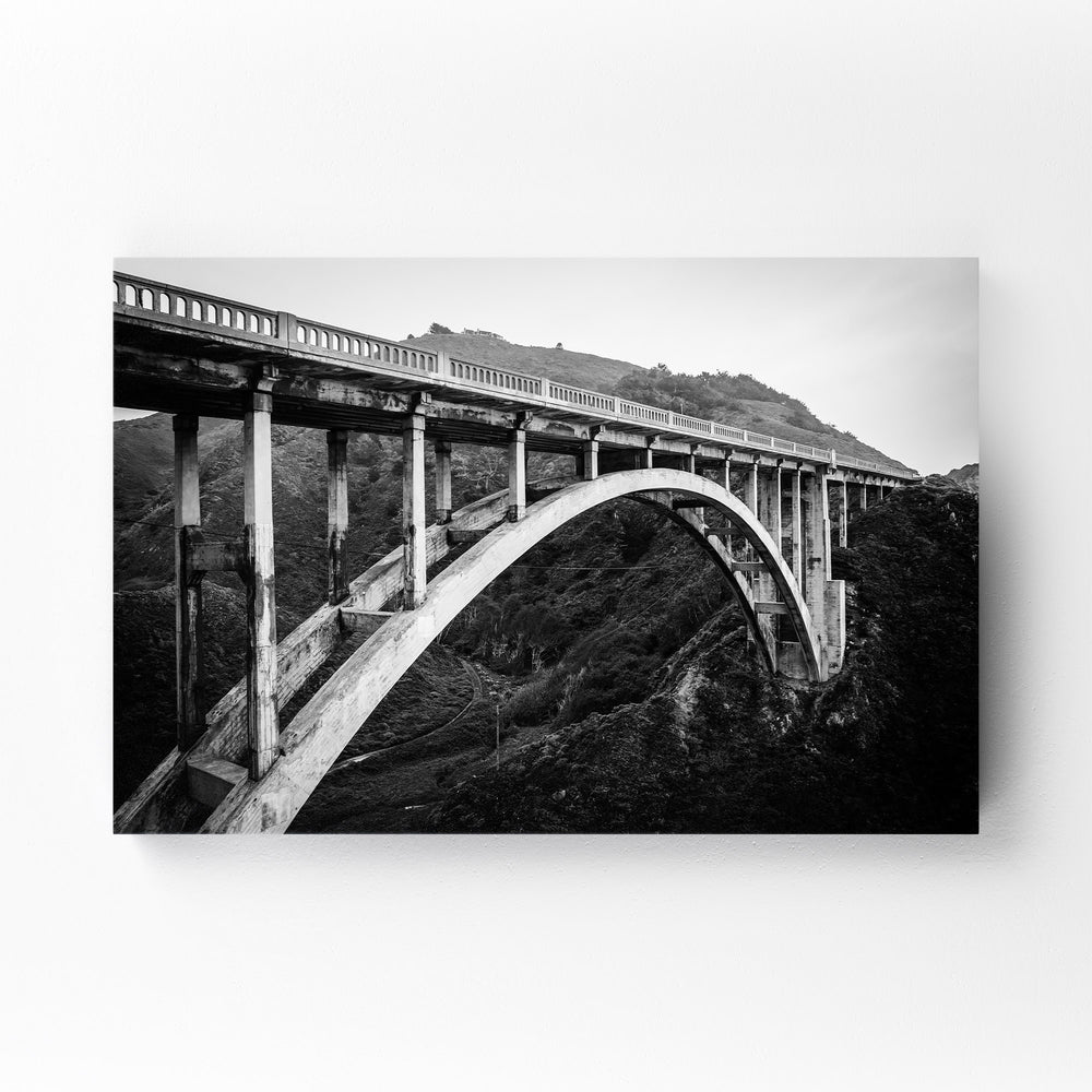 Bixby Bridge Big Sur California Mounted Art Print