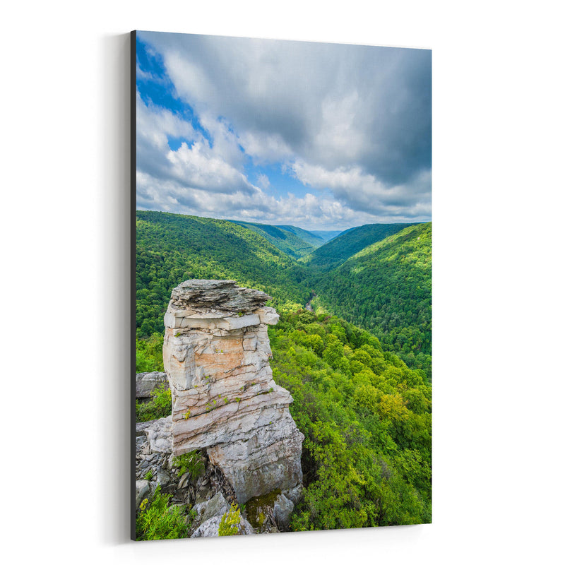 West Virginia Mountains Nature Canvas Art Print