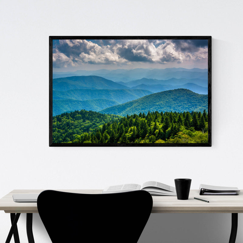 Blue Ridge Mountains Nature Framed Art Print