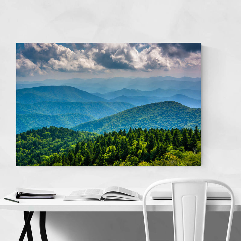 Blue Ridge Mountains Nature Metal Art Print