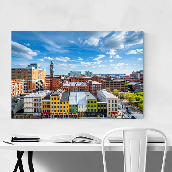 Baltimore, MD Downtown Skyline Art Print