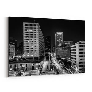 Baltimore Downtown Skyline Canvas Art Print